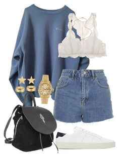 """""""Untitled #566"""" by naomiariel ❤ liked on Polyvore featuring Topshop, Eberjey, Rolex, Yves Saint Laurent, Chrome Hearts, Jennifer Zeuner, Cartier and Jennifer Meyer Jewelry"""