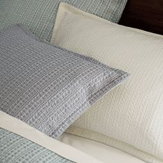 Shop Tessa Full-Queen Duvet Cover.  Tonal taupes highlight the beautiful texture of Tessa's dimensional Jacquard weave.  Woven of spun cotton, the fabric is given an enzyme finish for ultimate softness.