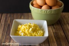 This high fat low carb egg salad is made with a homemade coconut oil mayonnaise. The high fat content is perfect for an egg fast to keep you full longer.