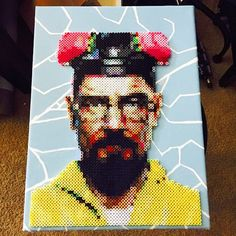 """Walter White - Breaking Bad perler canvas (12""""x16"""") by Thats The Beads Knees"""