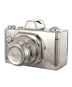 NEW in - This silver ceramic camera is part of a stunning set as a gift or for the nostalgic. Use our gold and silver ceramic set as ornaments in your home or simply as a decorative paperweight. They are a simple, elegant and effortless piece. Decorative Objects, Decorative Pillows, Agate Decor, Ceramic Decor, Block Lettering, Vintage Cameras, Book Photography, Joss And Main, Accent Pieces