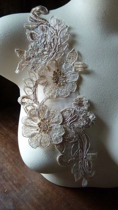 Lacy Appliques in Blush  IRON 41 by MaryNotMartha on Etsy, $3.75