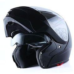 10aadc5c 1Storm Motorcycle Street Bike Modular/Flip up Dual Visor Sun Shield Full  Face Helmet