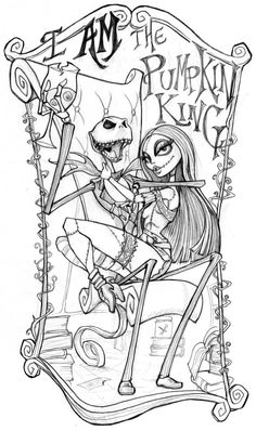 Nightmare Coloring Page Ideas Free, Many of the below ideas create a coloring experience for those of you who like scary. Some of the examples of this. Free Adult Coloring Pages, Disney Coloring Pages, Coloring Books, Colouring, Halloween Coloring Sheets, Christmas Coloring Pages, Dark Art Drawings, Cute Drawings, Desenhos Tim Burton