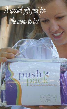 The Push Pack a wonderful gift for yourself or any mom to be.  A prepacked hospital labor bag created by a mom of three.  Available on Amazon & Small-batchstudio.com