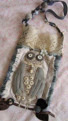 Whimsical Owl Lace Purse