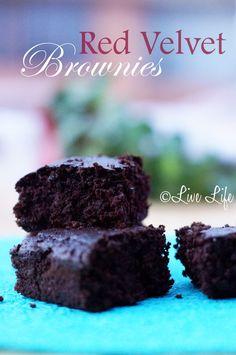 red velvet vegan brownies