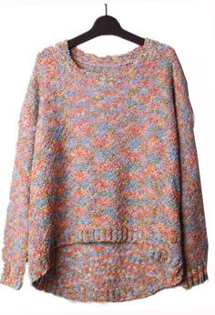 Muli Yarn Batwing Sleeve Sweater.    This would look cute with jeans. I need to reacquaint myself with jeans. I live in skirts. It's fun and going mostly bottomless is my life but...I'm getting cold and I think cycling in a skirt in bad,bad winter cold sounds like fresh hell.