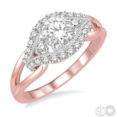 This two tone gold ring is stunning! #EngagementRing #rosegold