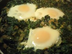 Green Shakshuka - subsitute spinach for tomato