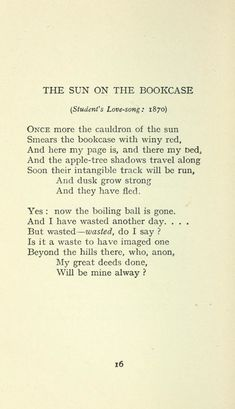 Poetry Classic, Classic Poems, Poem Quotes, Words Quotes, Sayings, Sun Poem, Poetic Words, Emotion, Writing Poetry