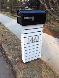 modern wooden mailbox on post - Google Search