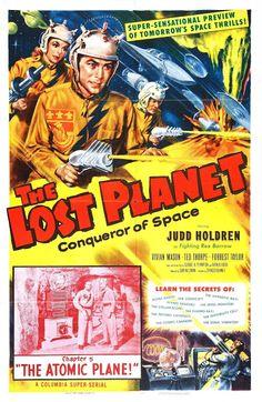 Pizarra del espectador: Carteles Cine Ciencia Ficción (41) - The Lost Planet (Serial) (1953)