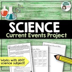 A current events project based on current issues in ANY SCIENCE. Emphasizes the dynamic nature of science studies and asks students to examine an event of their choice. Typically, I ask students to sign-up for a day to present their current event.