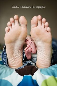 Father/baby feet... how much do you like the way your feet look?