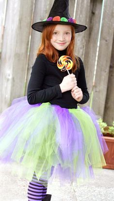 Dramatic Tutu Witch Easy Costume ::: Top 10 DIY Kids Halloween Costumes