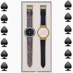 NWTKate Spade Pave Interchangeable Strap Watch Beautiful Kate Spade interchangeable watch. Leather Embossed Multi glitter /Navy straps. Beautiful Pave stones around the face.Mother of Pearl dial. Water resistant! Item comes preboxed. Price is firm. kate spade Accessories Watches