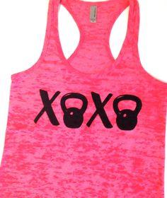 XOXO Kettlebell Workout Tank // Abundant by AbundantHeartApparel, $26.00