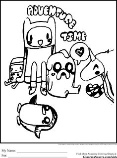 Adventure Time Coloring Book Printables Sheets Pages 99 For Kids With Best