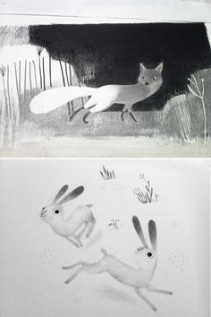 Isabelle Arsenault.  http://www.isabellearsenault.com/