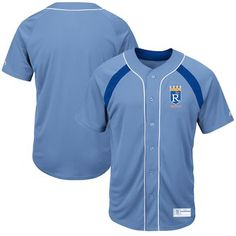 093f4e2d6 Kansas City Royals Majestic Cooperstown Collection Peak Power Cool Base  Fashion Jersey - Light Blue