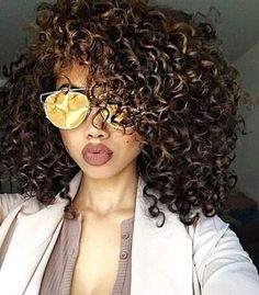 2017 Spring-Summer Hair Color Trends for Black African-American Women 2 - Haare - Love Hair, Big Hair, Gorgeous Hair, Summer Hairstyles, Pretty Hairstyles, Spiky Hairstyles, Hairstyles Haircuts, Curly Hair Styles, Natural Hair Styles