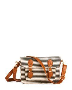 striped crossbody handbag