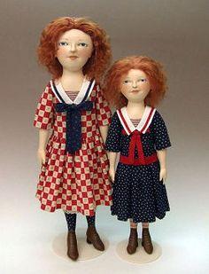 Cloth Doll Patterns by Deanna Hogan of Blue Heron Dolls