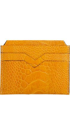 Valextra Ostrich Leg Credit Card Holder - - Barneys.com