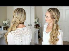 Sideswept Dutch Braid | Missy Sue - YouTube