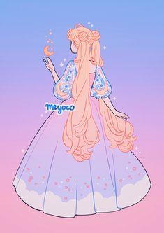 Wallpapers Sailor Moon, Sailor Moon Wallpaper, Cute Wallpapers, Sailor Moon Aesthetic, Aesthetic Art, Aesthetic Anime, Arte Do Kawaii, Kawaii Art, Kawaii Drawings