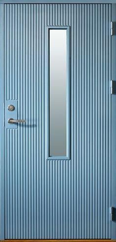 Ekstrands ytterdörr Arild 115S G08, Tillval: kulör Allmogeblå 4402. #Ekstrands #ytterdörr #ytterdörrar #klassiskaytterdörrar #Arild Shed Homes, Entrance Doors, Exterior Doors, Mid-century Modern, Mid Century, Mirror, Architecture, Blue Doors, Handmade