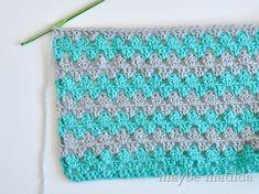 Granny Stripe Crochet Baby Blanket Tutorial