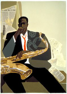 Jazz, Hi-Fi, & Everything Nice! African American Art, African Art, Jazz Bar, Jazz Poster, Jazz Blues, Blues Music, Jazz Artists, Music Painting, Collage Art Mixed Media