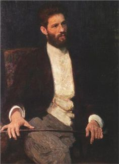 Portrait of sculptor Mark Matveevich Antokolski - Ilya Repin (1844-1930)