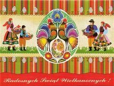 Polish Art Center - Polish Folk Easter Card - Easter Baskets!