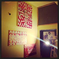 RED & GOLD (by Beatrice Calastrini) 100x55 cm Pannello decorativo per interni / Decorative panel for interior Tecnica mista su legno/ Mixed media on wood ° Realizzazione di panneli decorativi per...