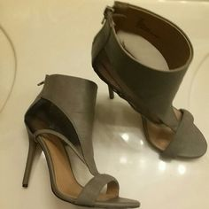 4.5 inch grey heels with mesh detailing size 8 *offers welcomed* *bundles get 20% off*  Bought and worn once to an event. Like new condition with zero flaws. Size 8. Urban Outfitters Shoes Heels