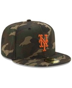 New Era New York Mets Camo On Canvas 59FIFTY Cap - Green