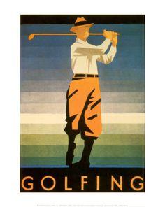 Golfing Art Print