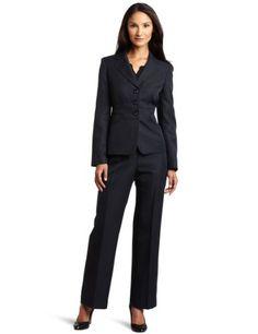Evan Picone Women's Inset Waist Jacket Pant Suit $200.00