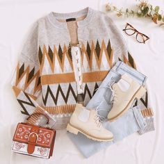 To find out about the Open Front Drop Shoulder Geo Cardigan at SHEIN, part of our latest Cardigans ready to shop online today! Girly Outfits, Cute Casual Outfits, Pretty Outfits, Beautiful Outfits, Fall Outfits, Girls Fashion Clothes, Fashion Outfits, Clothing Photography, Korean Fashion Trends