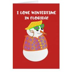 I Love Wintertime in Florida Christmas Card - Xmas ChristmasEve Christmas Eve Christmas merry xmas family kids gifts holidays Santa