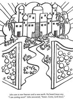 new heaven and earth - Arts And Crafts Coloring Pages