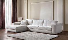 Nuovo divano moderno disponibile in tessuto sfoderabile oppure in pelle mod. Feeling in vendita da Tino Mariani. http://www.tinomariani.it/divani.html