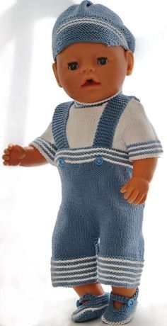 Knitting pattern for doll clothes - beautiful summer clothes for your girl doll . - Knitting pattern for doll clothes – beautiful summer clothes for your girl doll and your boy doll - Knitting Patterns Boys, Knitted Doll Patterns, Skirt Patterns Sewing, Knitted Dolls, Doll Clothes Patterns, Clothing Patterns, Baby Knitting, Baby Born Clothes, Boy Doll Clothes