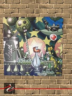 """quadro """"Foffo e gli Alieni 1 """" di Simone Lucchesi"""