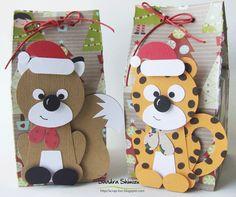 Punch Art Fun - Christmas reindeer and Cat
