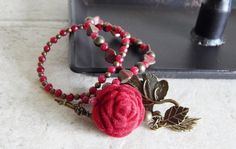 Velvet Rose Bracelet Winter Romance Vintage Roses by AJBcreations, $25.00