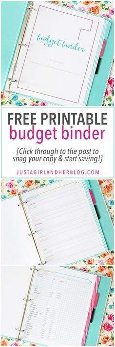 Printable Budget Binders Binder, Homesteads and Budgeting - free printable budget planner